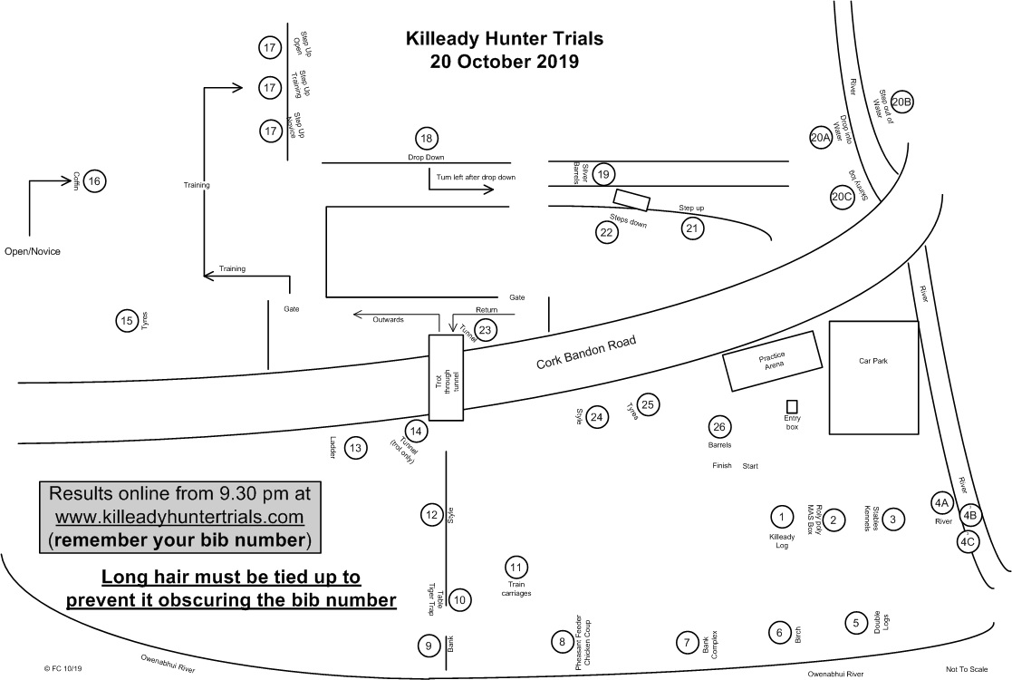 Killeady Hunter Trials Course Map -- Click to view full size image